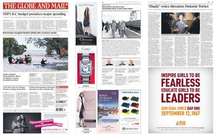 The Globe and Mail – September 12, 2017