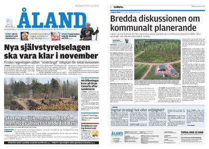 Ålandstidningen – 24 februari 2020