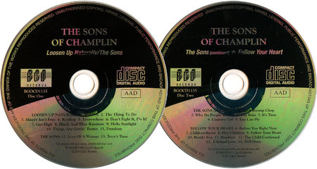 The Sons of Champlin - Loosen Up Naturally (1969) + The Sons (1969) + Follow Your Heart (1971) 3 LPs on 2 CDs, Remastered 2014