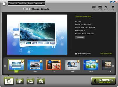 ThunderSoft Flash Gallery Creator 2.7.0