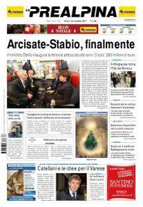 La Prealpina - 23 Dicembre 2017