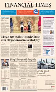 Financial Times Europe – 23 November 2018