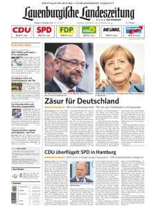 Lauenburgische Landeszeitung - 25. September 2017