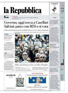 la Repubblica - 18 Aprile 2018