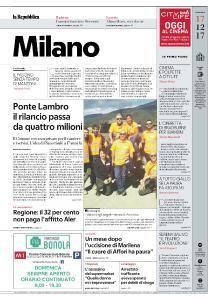 la Repubblica Milano - 17 Dicembre 2017