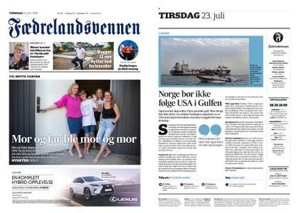 Fædrelandsvennen – 23. juli 2019