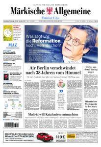 Märkische Allgemeine Fläming Echo - 28. Oktober 2017