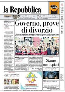 la Repubblica - 31 Marzo 2019