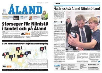 Ålandstidningen – 29 januari 2018