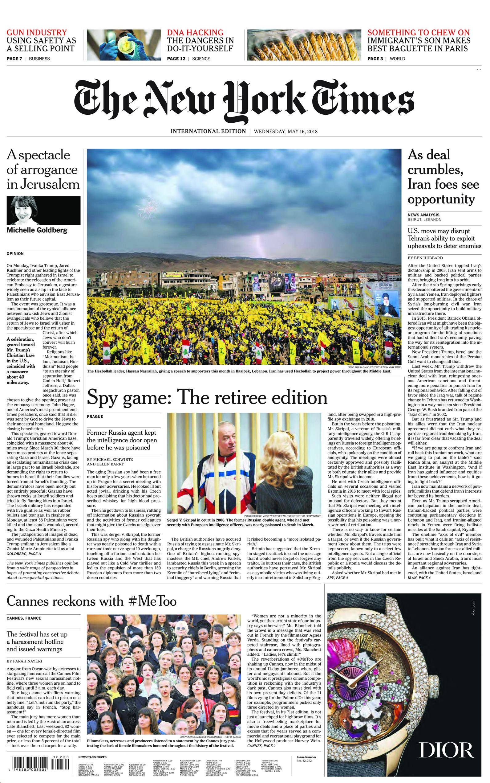 International New York Times - 16 May 2018