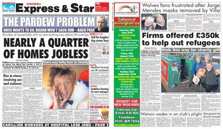 Express and Star Sandwell Edition – March 13, 2018
