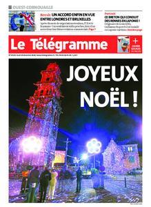 Le Télégramme Ouest Cornouaille – 24 décembre 2020