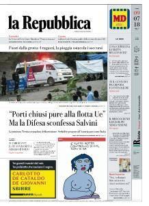 la Repubblica - 9 Luglio 2018