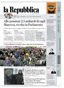 la Repubblica - 21 Dicembre 2018