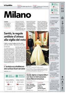 la Repubblica Milano - 21 Gennaio 2018