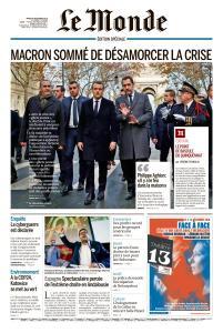 Le Monde du Mardi 4 Décembre 2018