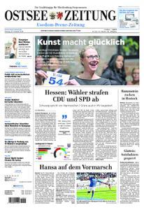 Ostsee Zeitung Wolgast - 29. Oktober 2018