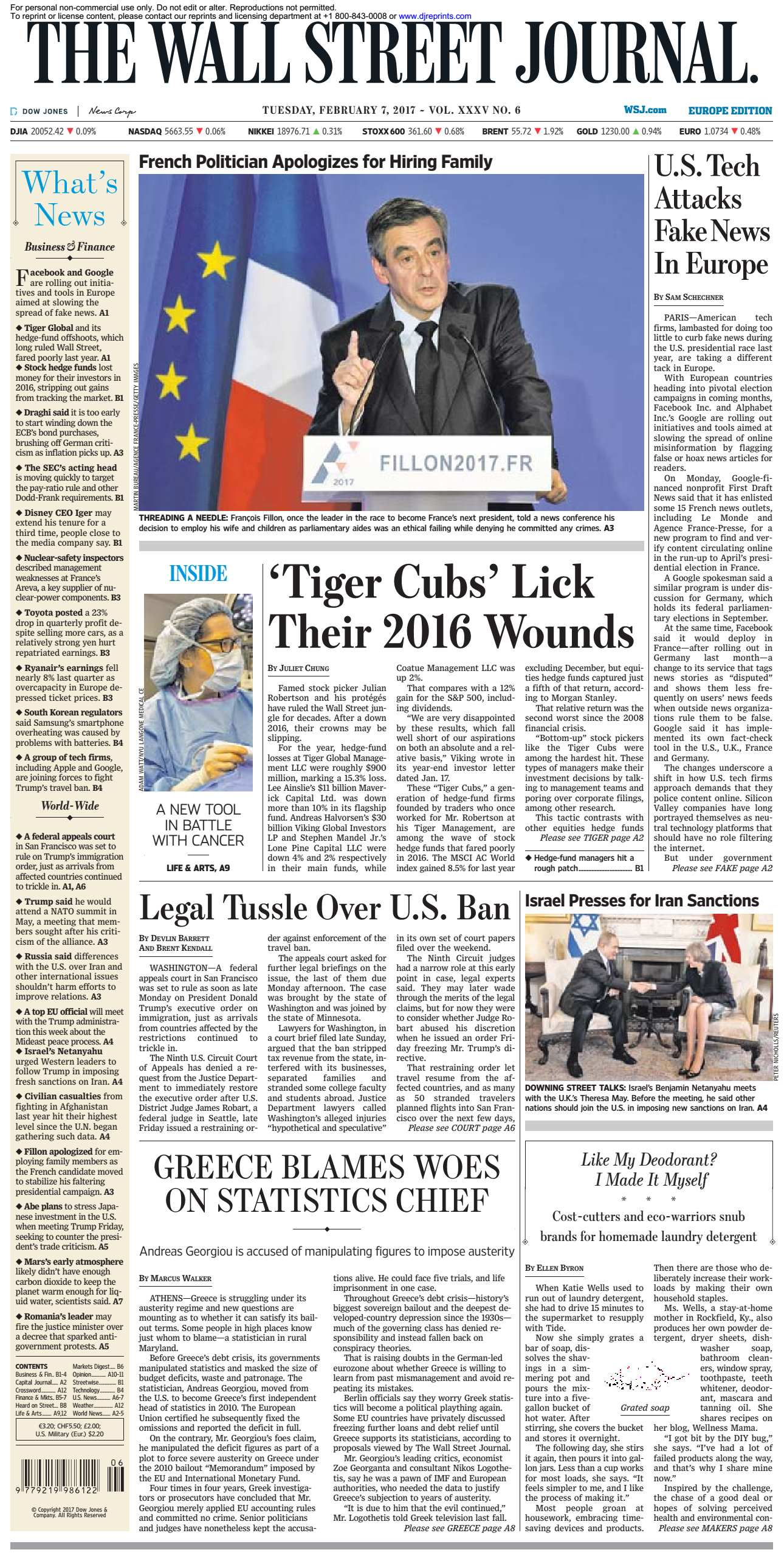 The Wall Street Journal Europe  February 07 2017
