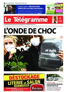 Le Télégramme Ouest Cornouaille – 18 octobre 2020