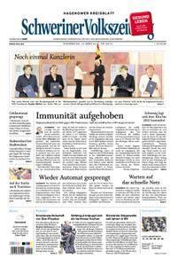 Schweriner Volkszeitung Hagenower Kreisblatt - 15. März 2018