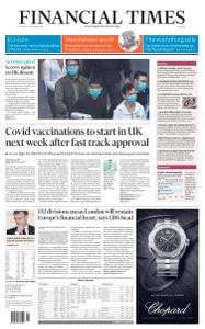 Financial Times Europe - December 3, 2020