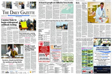 The Daily Gazette – April 20, 2020