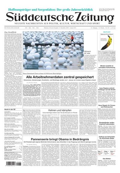 Sueddeutsche Zeitung vom 31.12.2009