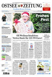 Ostsee Zeitung Wolgast - 24. Dezember 2018
