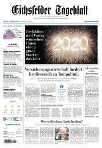 Eichsfelder Tageblatt – 31. Dezember 2019
