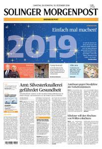 Solinger Morgenpost – 29. Dezember 2018