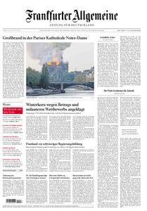 Frankfurter Allgemeine Zeitung F.A.Z. mit Rhein-Main Zeitung - 16. April 2019