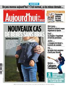 Aujourd'hui en France du Lundi 21 Janvier 2019