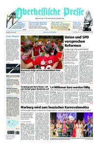 Oberhessische Presse Marburg/Ostkreis - 08. Januar 2018