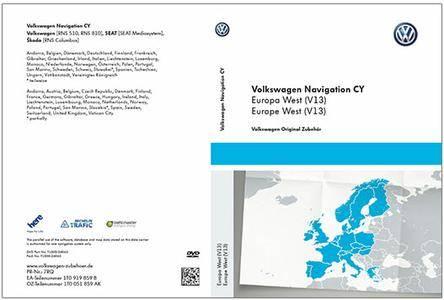volkswagen navigation cy rns510 rns810 v15 western europe. Black Bedroom Furniture Sets. Home Design Ideas