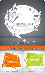 Butterfly cloud for text vector