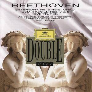 Beethoven - Symphonies Nos. 6, 7 & 8, Overtures (1993) {Karl Böhm, VPO} {2CD Deutsche Grammophon 437 928-2 rec 1969-72}