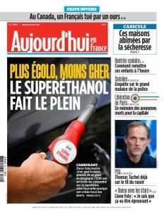 Aujourd'hui en France du Mardi 20 Août 2019