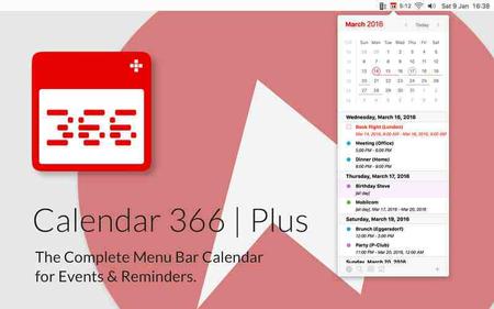 Calendar 366 Plus 1.4.5 MacOSX
