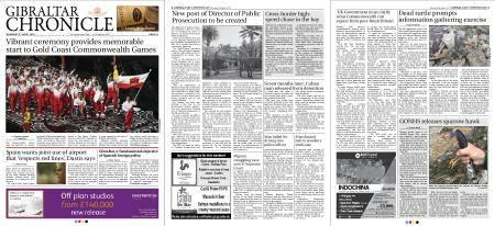 Gibraltar Chronicle – 05 April 2018
