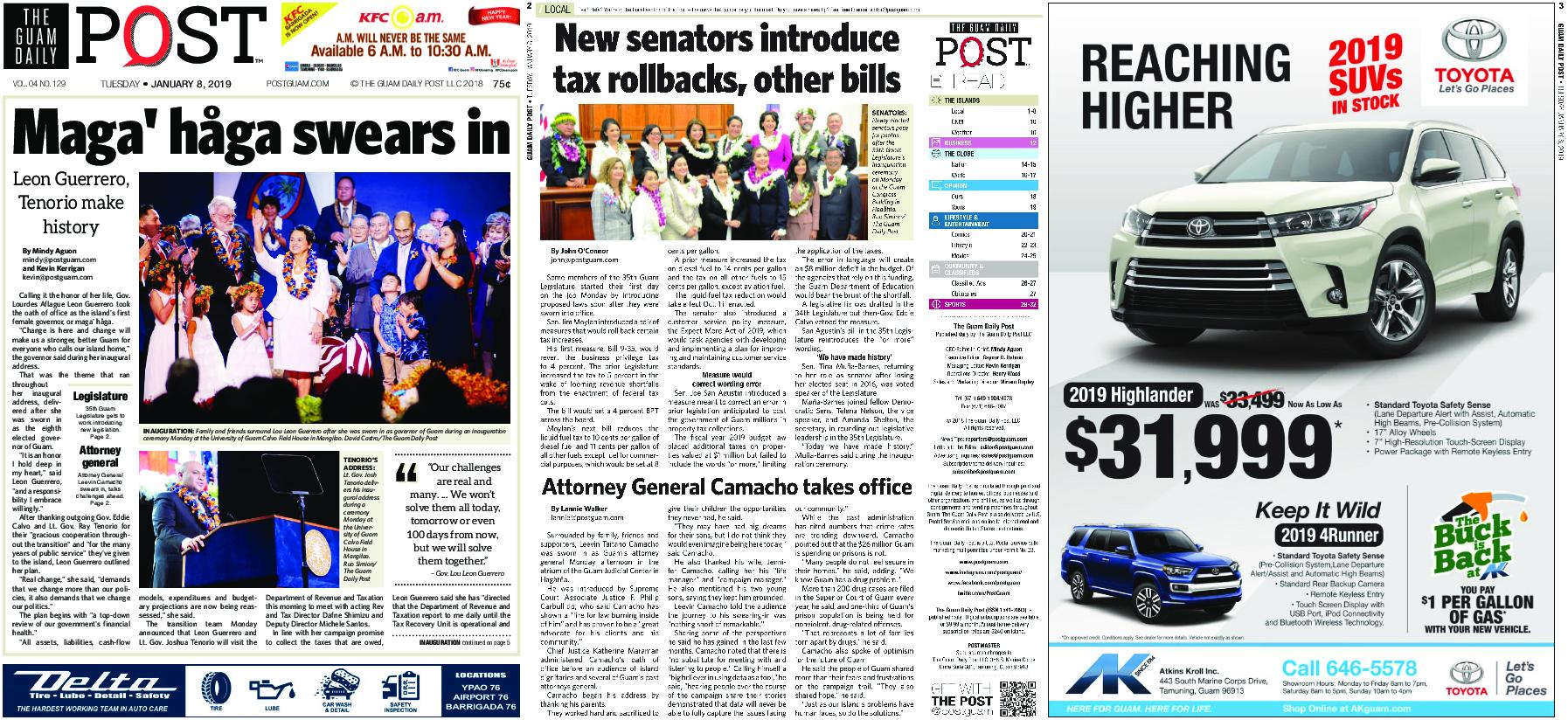 The Guam Daily Post – January 08, 2019