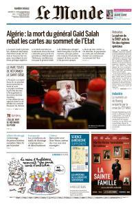 Le Monde du Mercredi 25 et Jeudi 26 Décembre 2019