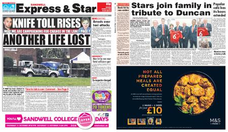 Express and Star Sandwell Edition – October 13, 2018