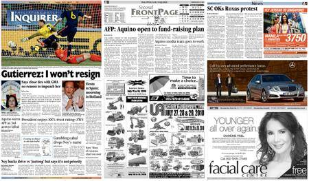 Philippine Daily Inquirer – July 13, 2010