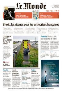 Le Monde du Samedi 19 Janvier 2019