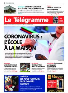Le Télégramme Quimper – 09 mars 2020