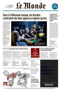 Le Monde du Mardi 15 Octobre 2019