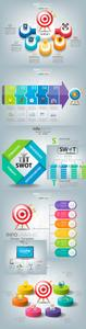 Business infographics options elements collection 145