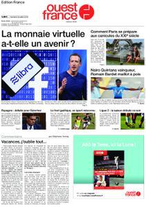 Ouest-France Édition France – 26 juillet 2019