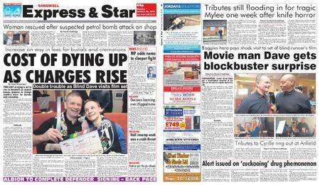 Express and Star Sandwell Edition – January 29, 2018