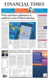 Financial Times Asia - June 19, 2020